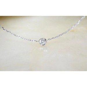 1.25 Ct Bezel Set Round Diamond Necklace Pendant